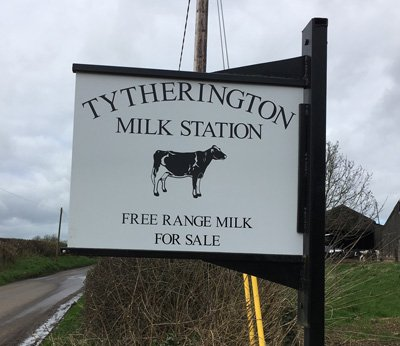 Free Range Dairy | Tytherington Farm Sign