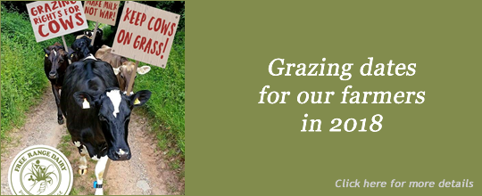 Free Range Dairy | Grazing dates 2018 slide